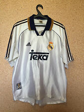 REAL MADRID SPAIN 1998/2000 HOME FOOTBALL SHIRT CAMISETA TRIKOT JERSEY ADIDAS
