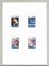 Dominica #1266-1269 Olympics, Tennis, Fencing 4v Imperf Proofs in Folder