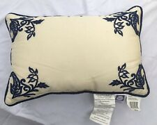 Savannah Home Provence Natural Cream 12x18 Oblong Embroidered Decorative Pillow