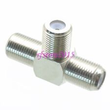1pce Adapter Connector F TV female jack to 2x F TV female jack triple T for TV