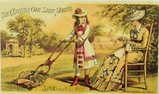 The Charter Oak Lawn Mower Macomber Bigelow & Dowse Lady Young Girl P97