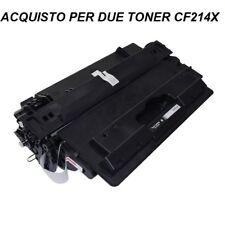 2 X CARTUCCIA PER STAMPANTE HP LASERJET ENTERPRISE 700  M712 TONER CF214X BLACK