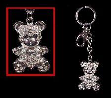 Crystal Diamond Teddy BEAR  KEYCHAIN Key Ring FREESHIP