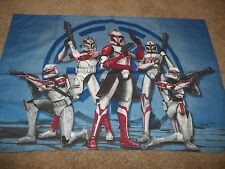 Vintage STAR WARS Movie Cartoon Character reversible Pillow Case {Fabric}