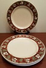 3pc Pfaltzgraff Mission Flower Dinner Plates Excellent Lightly Used Condition