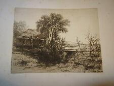 Kruseman VAN ELTEN (1829-1904) EAU FORTE ORIGINALE MOULIN BARBIZON AMERICA 1883
