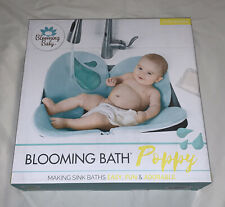 Blooming Bath Poppy Baby Bath, Bathing Mat, Flower Bath, Seafoam