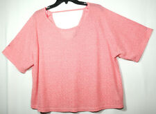 PINK PARTY LADIES EVENING TUNIC TOP SIZE 16 NEW LOOK STRETCH