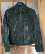 """GUESS Black Soft Real Leather Biker Casual Jacket Size:XS  - 32"""" Chest"""