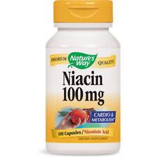 Nature's Way Niacina 100MG Nicotinic Ácido Suplemento Dietético - 100 Cápsulas