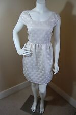 American Eagle Outfitters Lined Polka Dot Beige Sparkle Metallic Party Dress~8