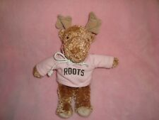 "Roots Moose wearing Pink roots 73 Hoodie sweater 10"" Plush & Beans"