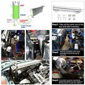 Stainless Steel Coolant Overflow Tank Car Radiator Catch Can Cooling Bottle