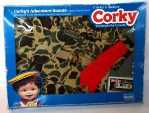 Playmates CORKY ADVENTURE SCOUTS OUTFIT & Cassette Tape Set 1987 NRFB