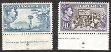 JAMAICA 140-141 SG 126b 133a  KGVI 1949 Mint NH PO Fresh