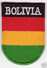 BOLIVIA Flag  Country Patch Shield Style