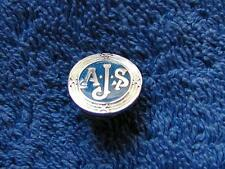 Gomm blue enamel and silver tiny AJS motorcycle PIN LAPEL BADGE brooch quality