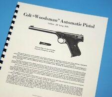 COLT Automatic WOODSMAN .22lr Pistol Owners Manual