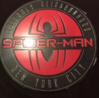 Open Road Marvel Spiderman Hero Metal Sign Wall Decor Hanging NEW 12""
