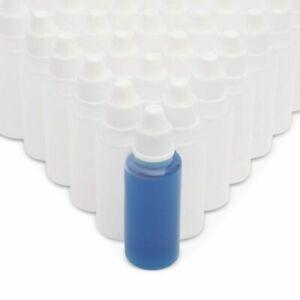 50pcs Plastic Dropper Bottle 20ml for Light Oils Paint Essence Eye Drops Saline