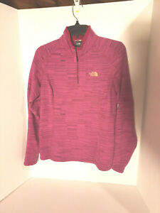 THE NORTH FACE - 3/4 Zip Pullover Youth Girls M Fuchsia Jacket