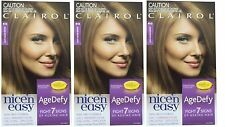 3 X Clairol N Easy Age Defy Permanent Hair Colour 6g Light Golden Brown