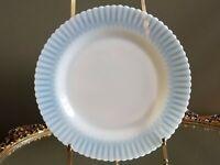 "Macbeth Evans Monax Petalware Opalescent Art Deco 9.25"" Dinner Plate 1930-1950"