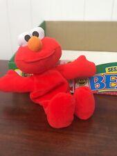 "Sesame Street Elmo 8"" Plush Bean Bag New Tyco 1997 B06"
