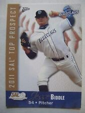 JESSE BIDDLE 2011 SAL Top Prospect baseball card PIRATES PHILLIES South Atlantic