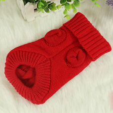 NEW Small Teacup Pet Dog Cat Sweater Knit Coat Puppy Pet Clothes Jumper XS-XL AR