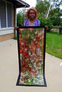 Lanita Numina, Thorny Devil Lizard, Aboriginal Art 160x67cm w/ COA