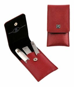 Manicure Set Three Parts Red Zwilling Twinox With TWIN-S Nail Clipper #97119-002