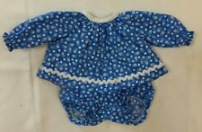 Blue Flower Print Top & Panty to fit Deluxe Reading Baby Boo Doll