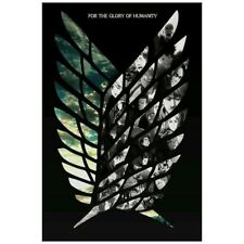 Japanese Anime Attack on Titan Wings Logo Poster Room Decoration Collection New