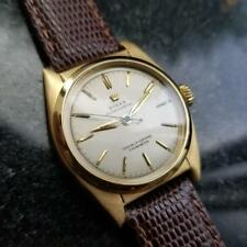 ROLEX Midsize 18K Solid Gold Oyster Perpetual 6050 Automatic, c.1948 Swiss LV794