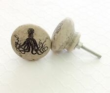 Octopus Cabinet Drawer Knobs Nautical Pulls Dresser Kitchen Beach Kraken Nursery