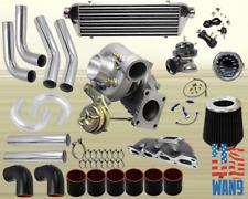 Mazda Miata Mx-5 1.6L T3/T4 Turbocharger Turbo Kit Black+Manifold+Bov+Wg+Gauge