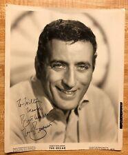 Vintage Original Autograph TONY BENNETT BW Publicity Photo Early Signature RARE!