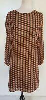 PRINCESS HIGHWAY Black/Tan Print Dress/Tunic Size 8