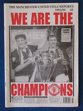 Manchester United-titre MAGAZINE Explore - 1992/93-48 page A4-We sont les champions