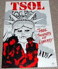 TSOL True Sounds Of Liberty Group Poster 1986 Guiccione Hardcore Punk