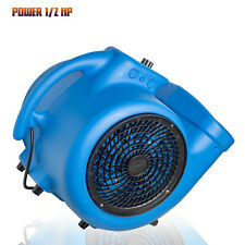 Mini Mighty Air Mover Floor Fan Dryer Utility Blower With Built In Power Outlets