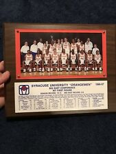 1996 1997 SYRACUSE UNIVERSITY BASKETBALL TEAM PLAQUE From Player