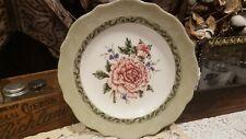 "Princess House Vintage Garden 8"" Salad Plate~Pink Peony EUC"