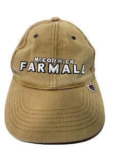 McCormick Farmall Baseball Cap Beige Strap Back with Plastic tag