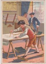 CHROMO ANCIEN PUBLICITAIRE/AU PROGRES-CHAUSSURES-G.COFFRE-KLEBER 1753/1800