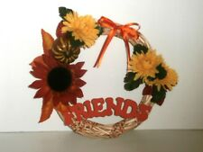 "Fall, Thanksgiving Wall Hanging ""Friends"" Wreath, 9 inch"