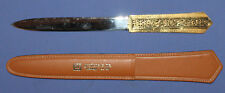 Italian paper knife letter opener with leather sheath