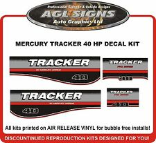 MERCURY TRACKER 40 hp decal set reproductions  60 HP   Mid 2000's