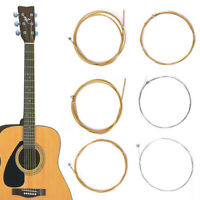 1 Set of 6 Bronze Steel Strings Balanced For Acoustic Guitar 150XL/.010in Trendy